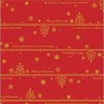 クリスマス包装紙 ネージュ赤