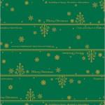 クリスマス包装紙 ネージュ緑