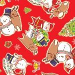 クリスマス包装紙 ノエルフレンズ赤