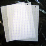 薄葉紙 パープルチェック